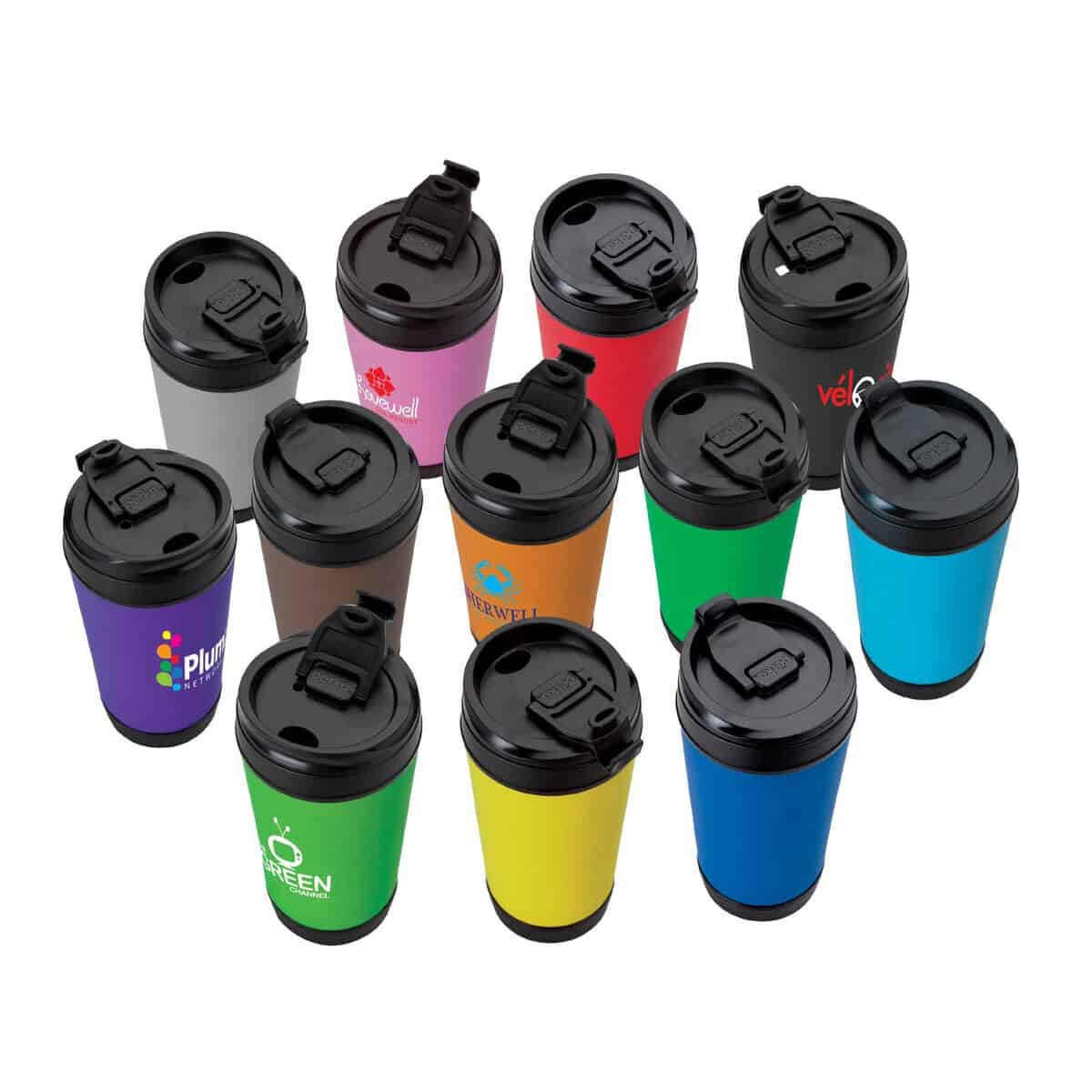 17 Oz. Perka Insulated Mug w/Flip Up Lid