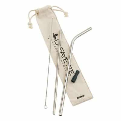 Perka Avila 5-Piece Stainless Steel Straw Set