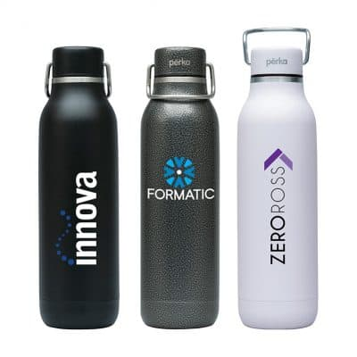 Perka Dashing 20 oz. Double Wall Stainless Steel Bottle w/ 18/8 Inner Wall